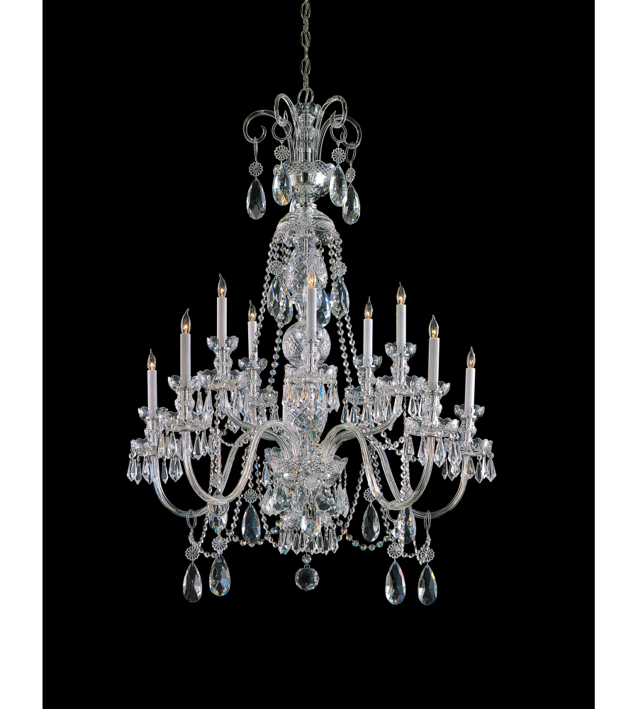 Crystorama 5020 ch cl s traditional crystal 10 light chandelier in polished chrome - Traditional crystal chandeliers ...