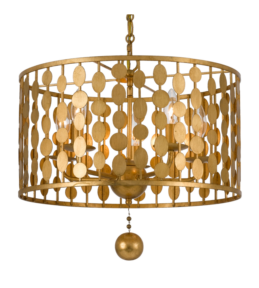 Antique Lighting Georgia : Crystorama ga layla light chandelier in antique gold