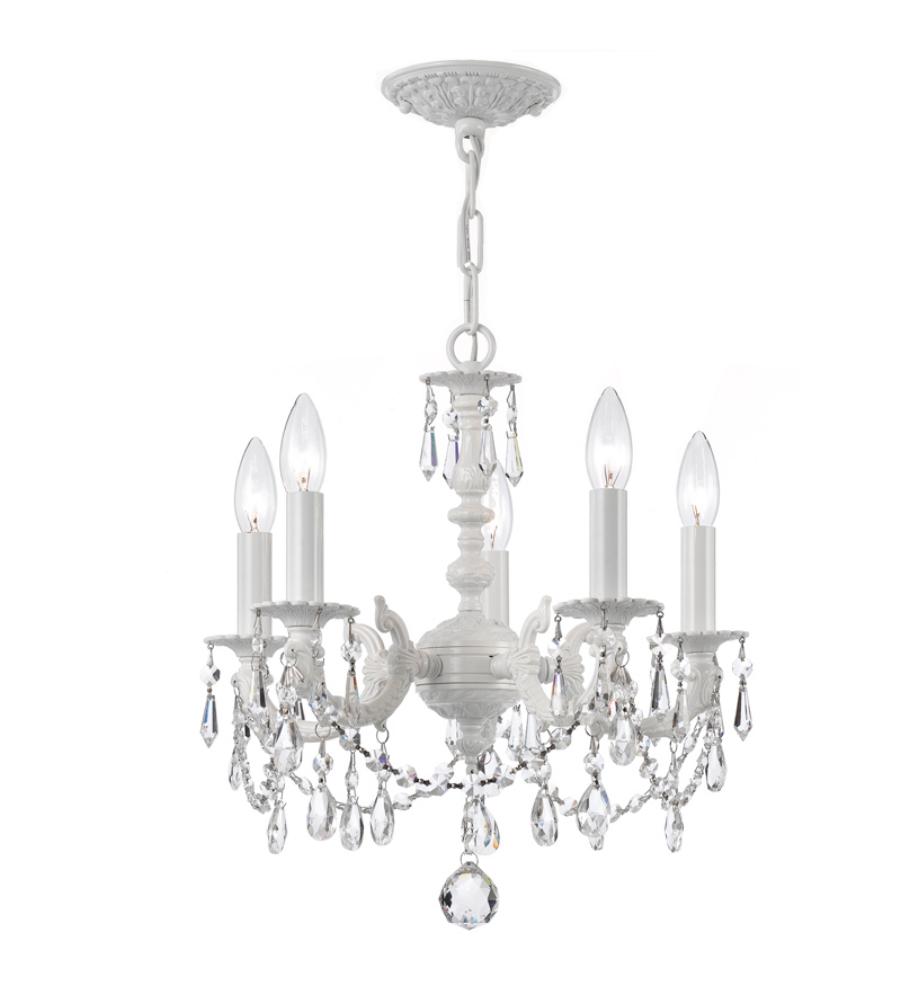 Crystorama 5515 ww cl mwp paris market 5 light mini chandelier in crystorama 5515 ww cl mwp paris market 5 light mini chandelier in wet white aloadofball Gallery