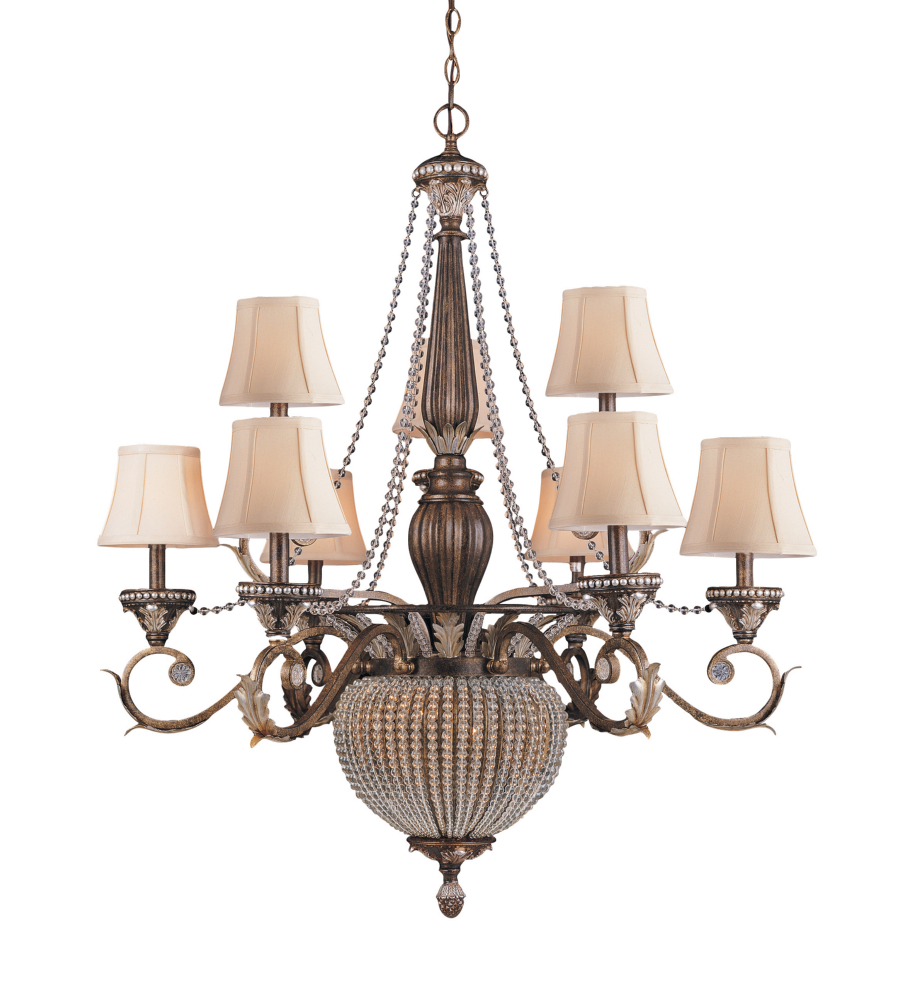 Love The Wall Finishes Chandelier And The Overall Tuscan: Crystorama 6729-WP Roosevelt 11 Light Chandelier In