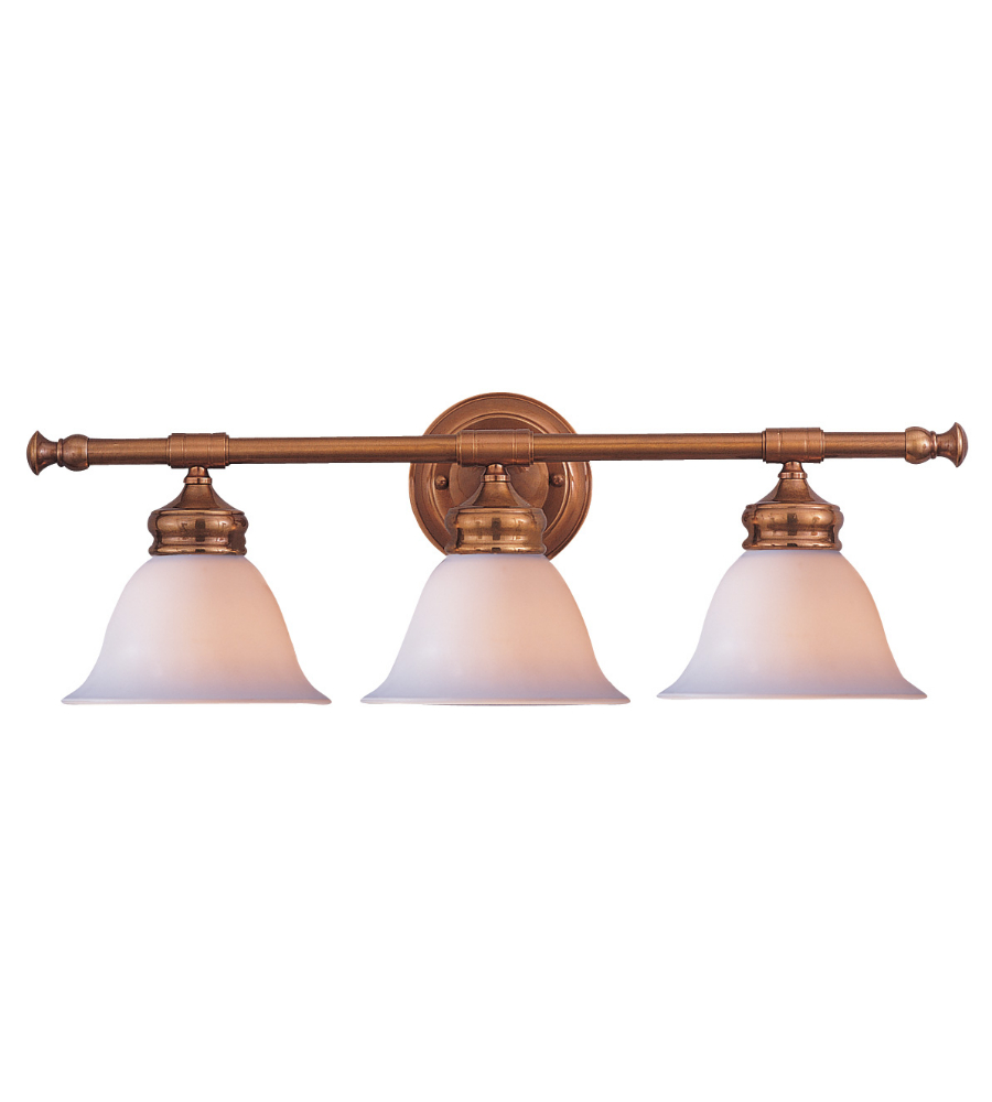 Bathroom Vanity Lights Brass: Crystorama 693-AB Chesapeake Lighting 3 Light Bath Vanity