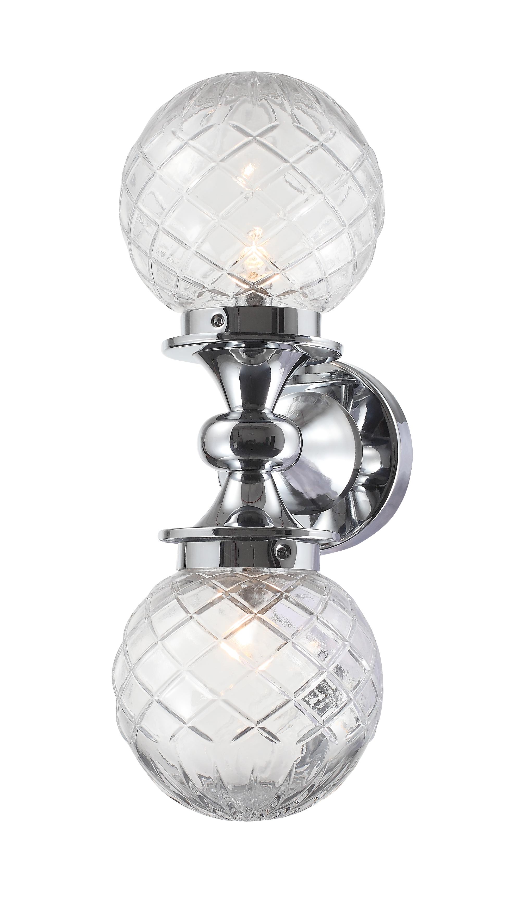 Bathroom Lights Essex crystorama 202-ch essex 2 light bathroom-vanity light in polished