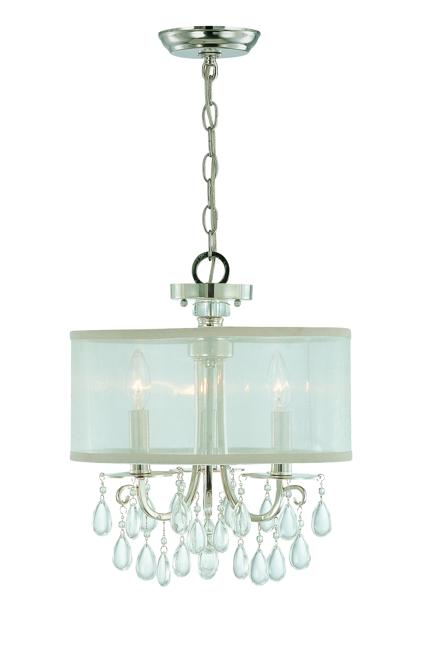 Crystorama 5623 ch hampton 3 light mini chandelier in polished related products arubaitofo Image collections