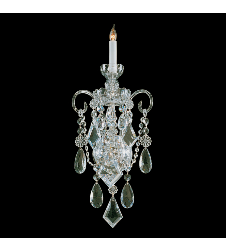Crystorama 1041-PB-CL-MWP Traditional Crystal 1 Light Sconce in Polished Brass
