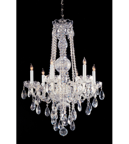 Crystorama 1105-CH-CL-S Traditional Crystal 6 Light Chandelier in Polished Chrome
