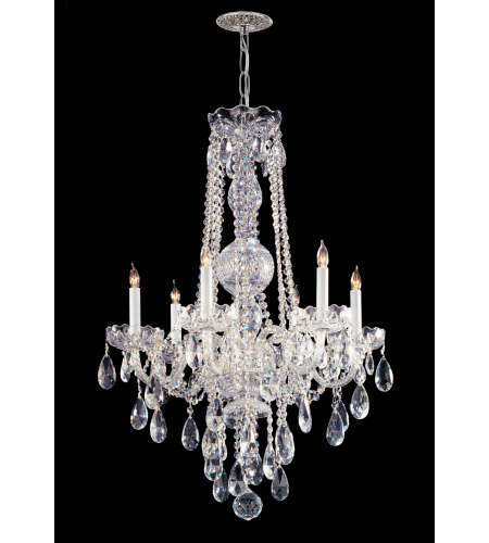Crystorama 1106-CH-CL-SAQ Traditional Crystal 6 Light Chandelier in Polished Chrome