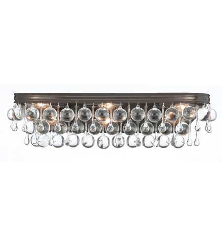 Crystorama 133-VZ Calypso 6 Light Bathroom-Vanity Light in Vibrant Bronze