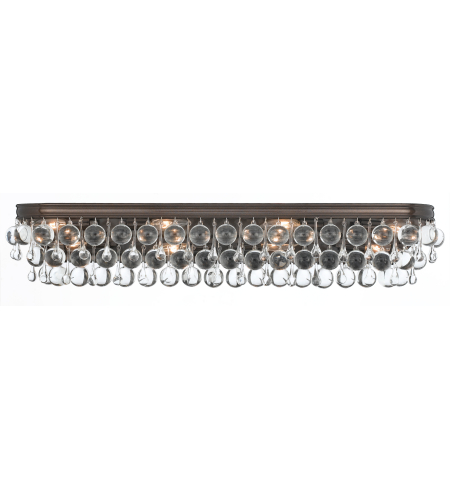 Crystorama 134-VZ Calypso 8 Light Bathroom-Vanity Light in Vibrant Bronze