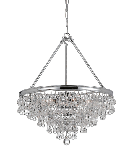 Crystorama 137-CH Calypso 8 Light Chandelier in Polished Chrome