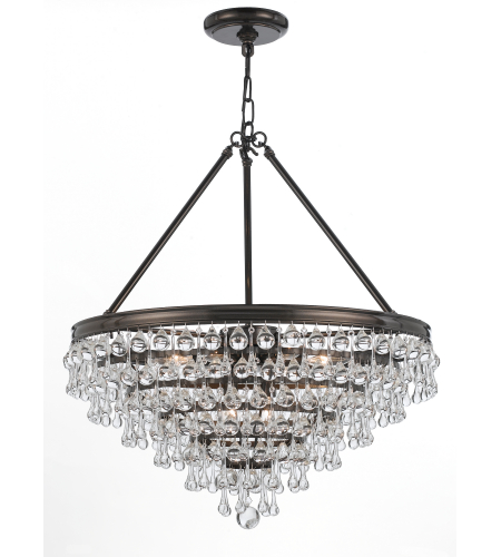 Crystorama 137-VZ Calypso 8 Light Chandelier in Vibrant Bronze