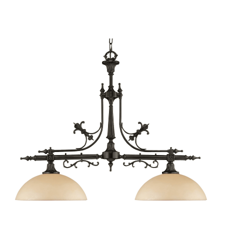Crystorama 1392-Vb Hot Deal 2 Light Chandelier In Vibrant Bronze