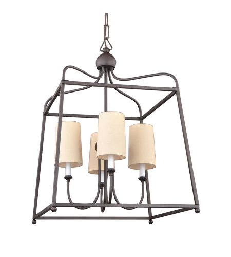 Crystorama 2244-DB Sylvan 4 Light Chandelier in Dark Bronze