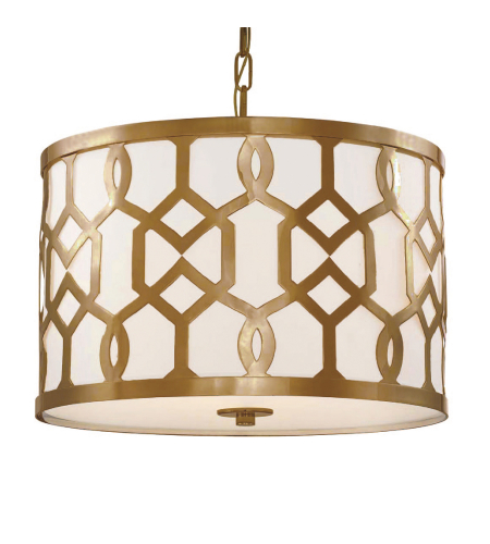 Crystorama 2265-AG Jennings 3 Light Chandelier in Aged Brass