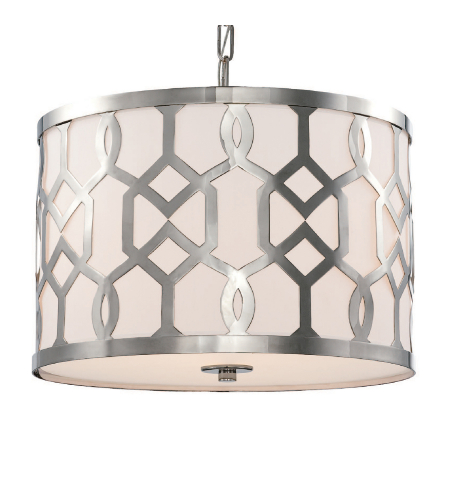 Crystorama 2265-PN Jennings 3 Light Chandelier in Polished Nickel