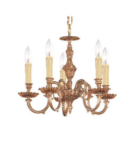 Crystorama 2605-OB Novella 5 Light Mini Chandeliers in Olde Brass