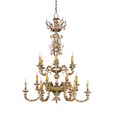 Crystorama 2618-OB Palmer 18 Light Chandelier in Olde Brass
