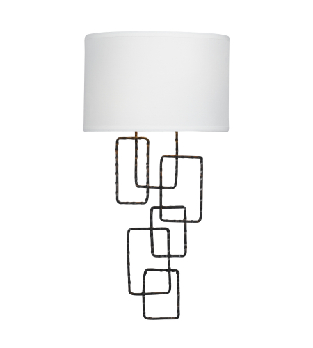 Crystorama 322-RS Lattice 2 Light Sconce in Raw Steel