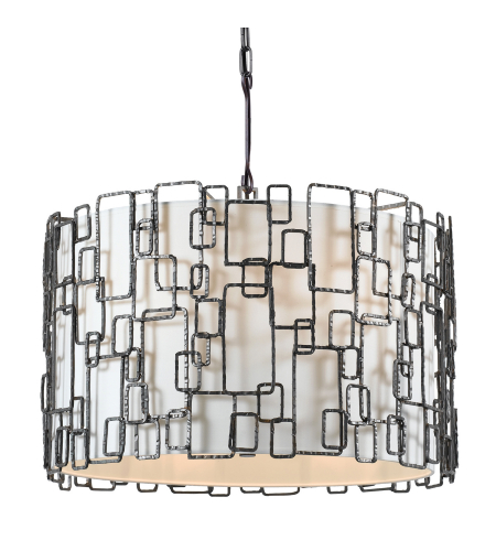 Crystorama 326-RS Lattice 6 Light Chandelier in Raw Steel