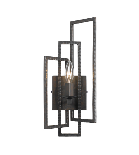Crystorama 331-RS Capri 1 Light Sconce in Raw Steel