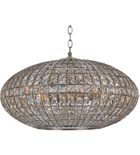 Crystorama 347-SA Solstice 6 Light Chandelier in Antique Silver