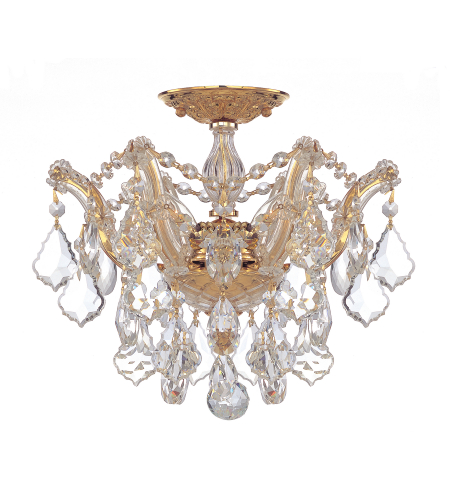 Crystorama 4430-GD-CL-S Maria Theresa 6 Light Ceiling Mount in Gold