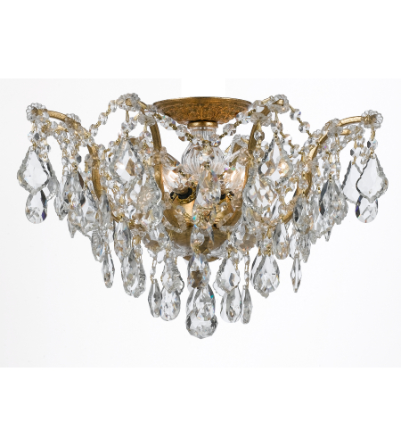 Crystorama 4457-GA-CL-S Filmore 5 Light Ceiling Mount in Antique Gold