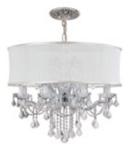 Crystorama 4489-CH-SMW-CLQ Brentwood 12 Light Chandelier in Polished Chrome