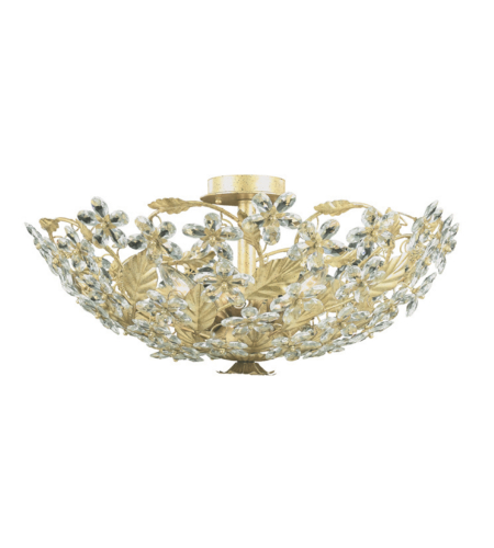 Crystorama 4724-CM Paris Market 6 Light Ceiling Mount in Champagne