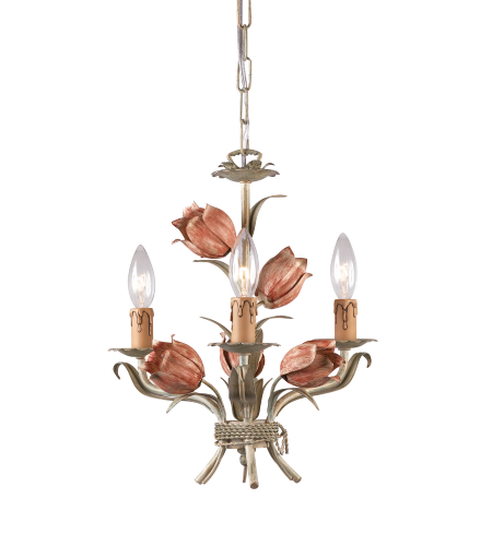 Crystorama 4803-SR Southport 3 Light Mini Chandeliers in Sage/Rose