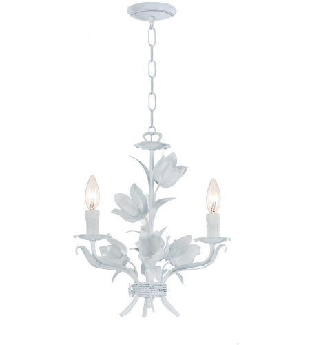 Crystorama 4813-WW Southport 3 Light Mini Chandeliers in Wet White