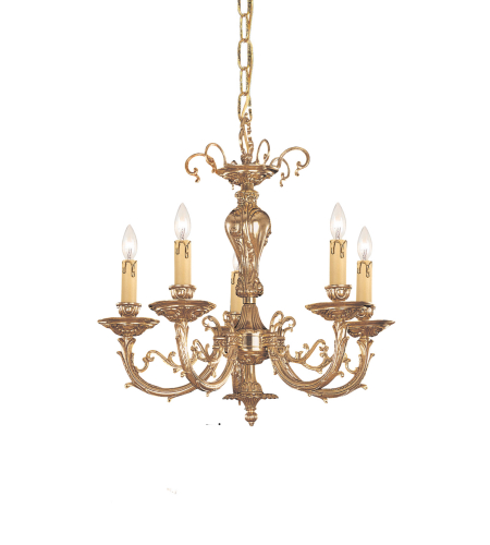 Crystorama 485-OB Etta 5 Light Chandelier in Olde Brass