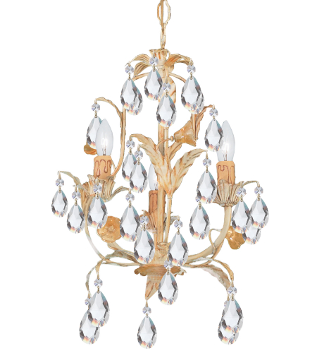 Crystorama 4903-CM Athena 3 Light Mini Chandeliers in Champagne