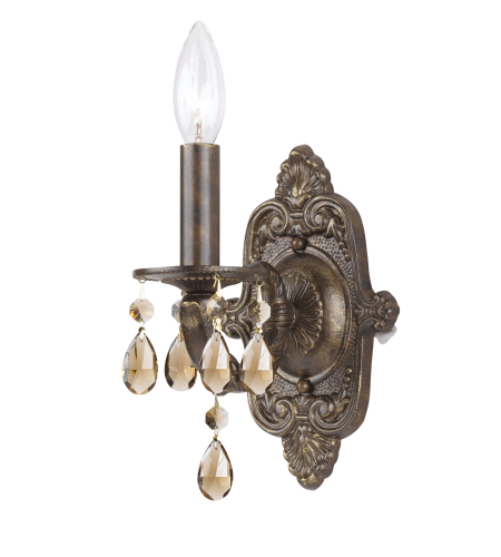 Crystorama 5021-VB-GT-MWP Sutton 1 Light Wall Sconce in Venetian Bronze