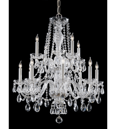 Crystorama 5047-CH-CL-I Traditional Crystal 12 Light Chandelier in Polished Chrome
