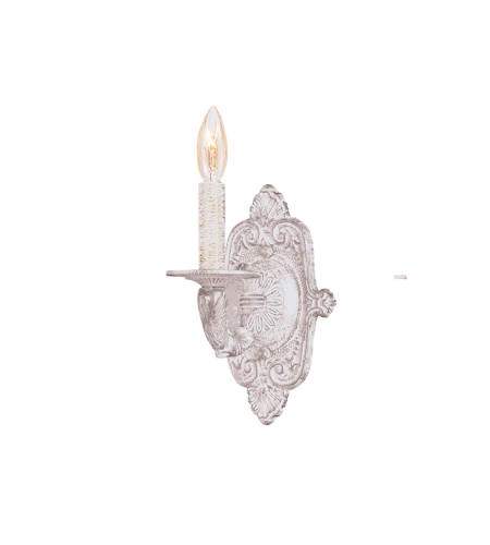 Crystorama 5111-AW Paris Market 1 Light Sconce in Antique White
