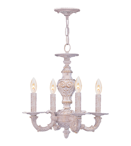Crystorama 5124-AW Paris Market 4 Light Mini Chandeliers in Antique White