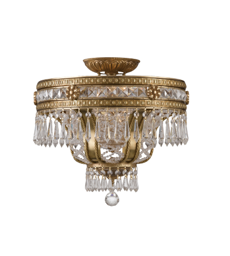 Crystorama 5153-AG-CL-MWP Regal 6 Light Ceiling Mount in Aged Brass