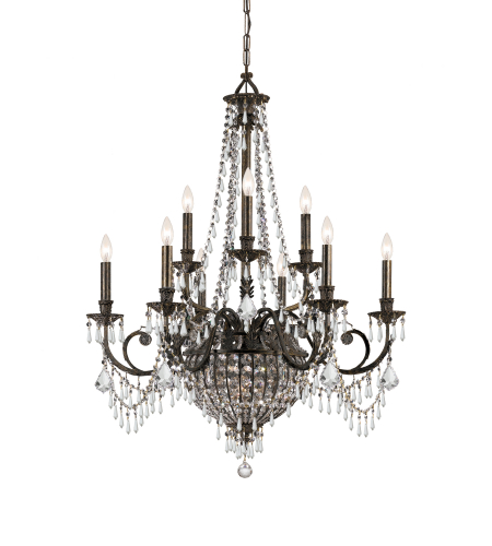 Crystorama 5168-Eb-Cl-Mwp Vanderbilt 12 Light Chandelier In English Bronze