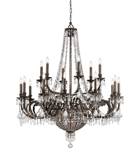 Crystorama 5169-Eb-Cl-Mwp Vanderbilt 23 Light Chandelier In English Bronze