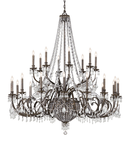 Crystorama 5170-Eb-Cl-Mwp Vanderbilt 29 Light Chandelier In English Bronze