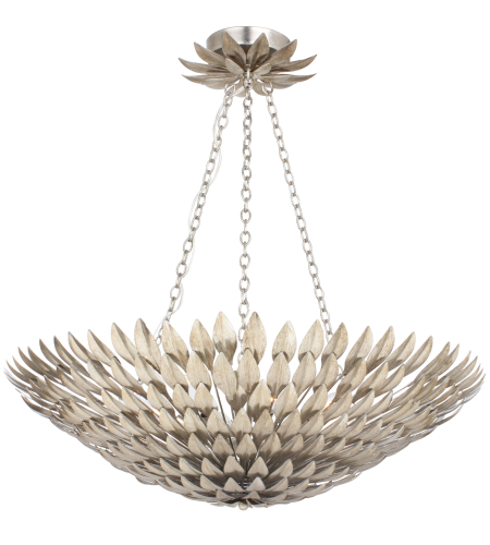 Crystorama 519-SA Broche 8 Light Chandelier in Antique Silver
