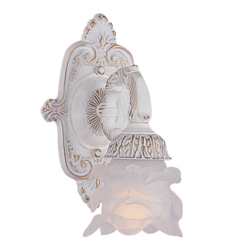 Crystorama 5221-AW Paris Market 1 Light Sconce in Antique White