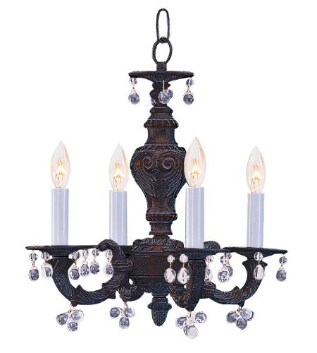 Crystorama 5224-VB-CLEAR Sutton 4 Light Mini Chandelier in Venetian Bronze