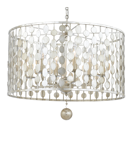 Crystorama 546-SA Layla 6 Light Chandelier in Antique Gold