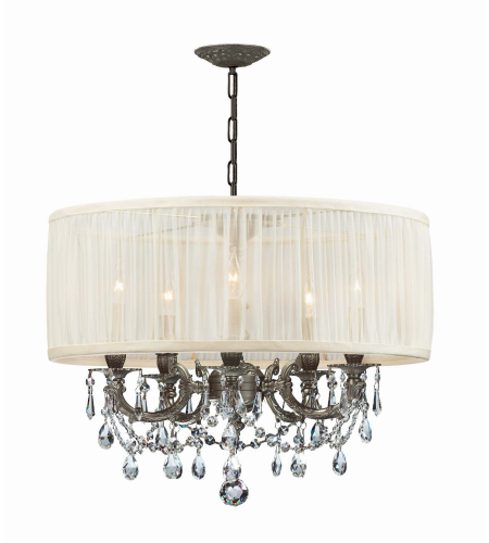 Crystorama 5535-PW-SAW-CLQ Gramercy 5 Light Chandelier in Pewter