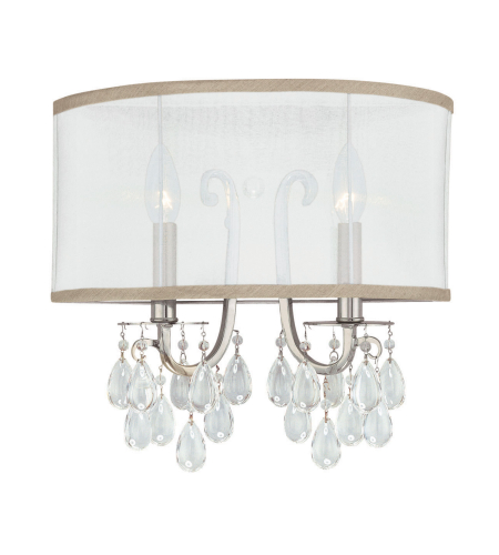 Crystorama 5622-CH Hampton 2 Light Sconce in Polished Chrome