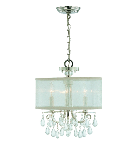 Crystorama 5623-CH Hampton 3 Light Mini Chandeliers in Polished Chrome