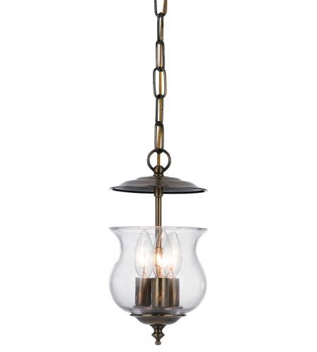 Crystorama 5717-AB Ascott 3 Light Lanterns in Antique Brass