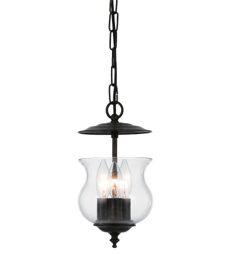 Crystorama 5717-EB Ascott 3 Light Lanterns in English Bronze