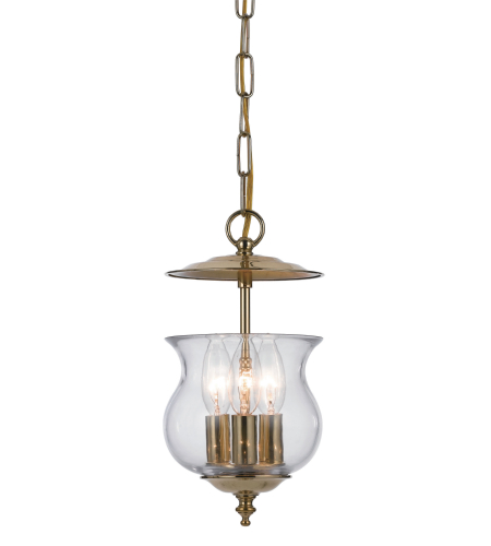 Crystorama 5717-PB Ascott 3 Light Lanterns in Polished Brass
